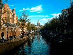 Amsterdam Oude kerk, bikes