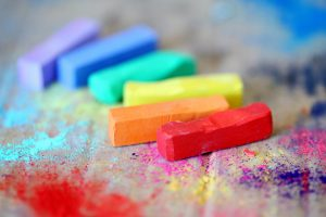 palet of different colours