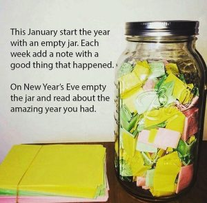 Jar with positive messages - mindset