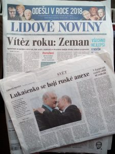 Czech newspaper to choose from for props