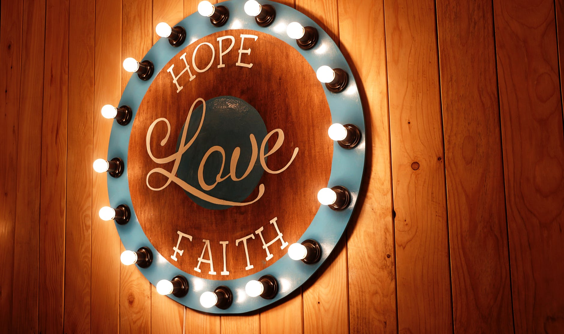 hope, love, faith