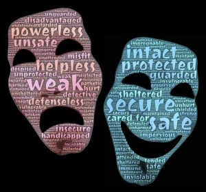 Anxiety and positivity masks